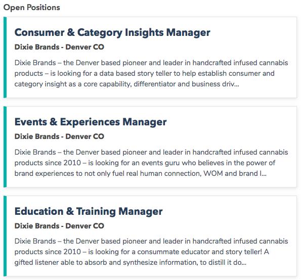 Dixie Brands Jobs