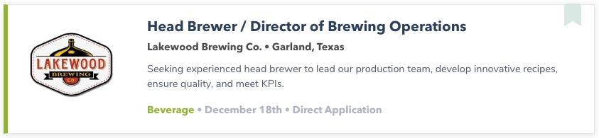 Best Beer Jobs