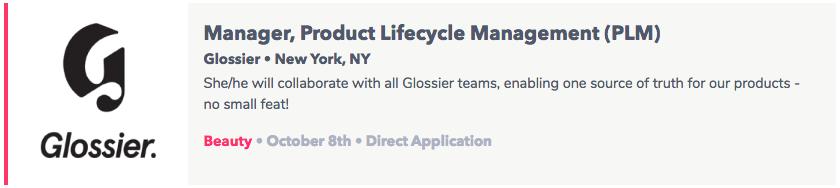 Glossier jobs