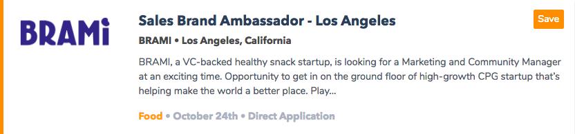 Food Brand Ambassador Jobs