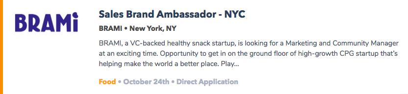 Entry-Level Food Jobs NYC