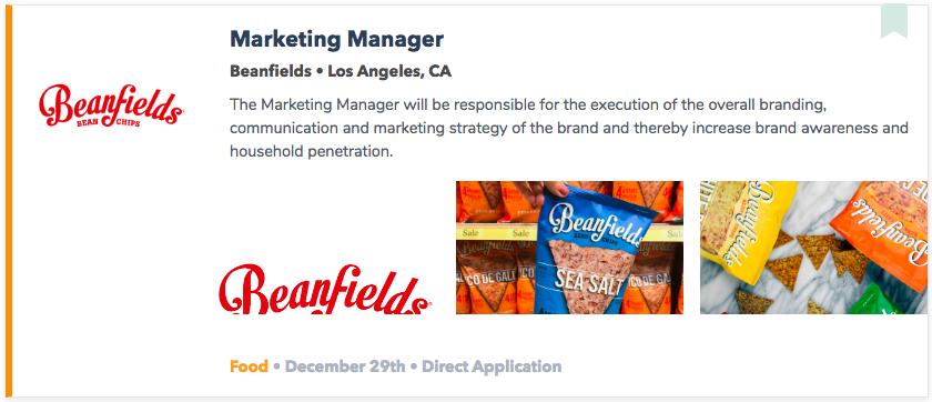 Best Food Marketing Jobs