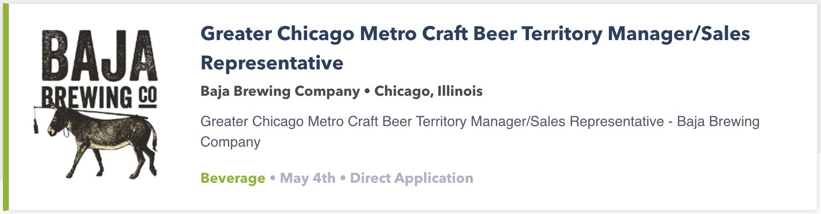 beer jobs