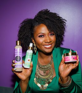 Gwen Jimmere with Products