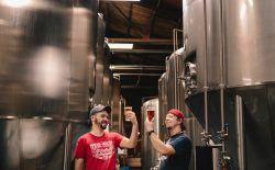 two men in brewery