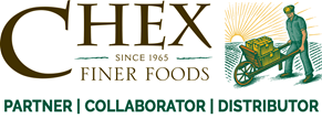 Chex Finer Foods logo