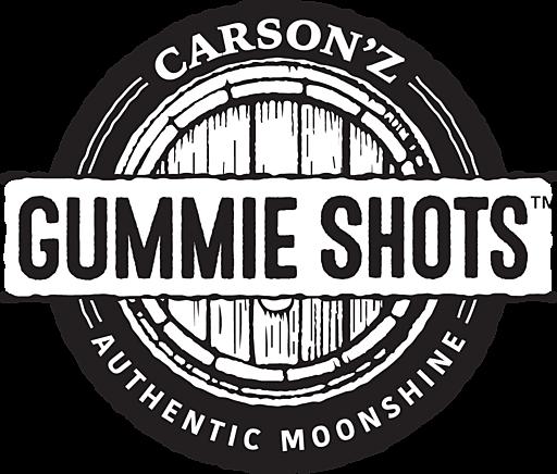 Square carson z gummie shots logo bw
